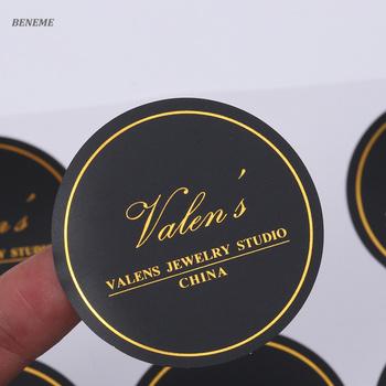Sterben Schneiden Runde Form Schwarz Matt Papier Gold Folie Benutzerdefinierte Aufkleber Drucken Buy Benutzerdefinierte Aufkleber Goldfolie