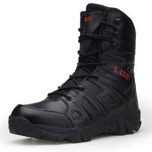XBH-067 wholesale high quality rubber snow shoes men leather military boots,tactical boots