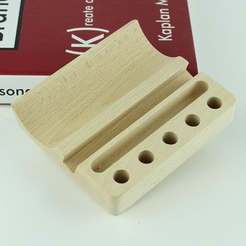 Natural beech wood business card holder phone stand pen or pencil natural beech wood business card holder phone stand pen or pencil holders 3 in 1 colourmoves