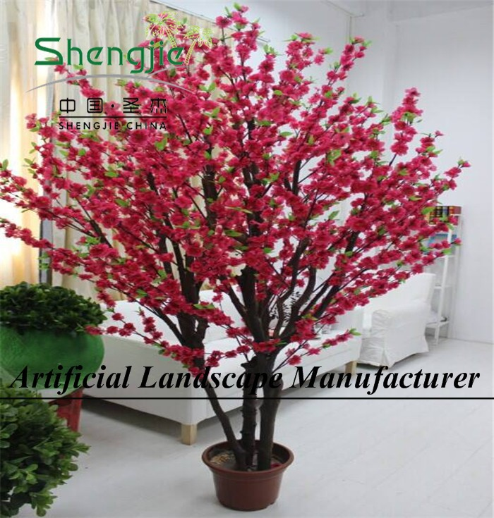 Made in china cheap price high quality colorful artificial trees cherry blossoms for indoor outdoor