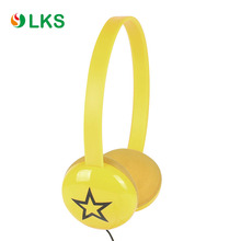 earthy yellow color star picture clip on headphones