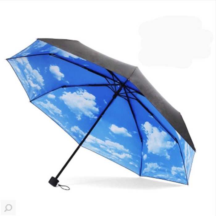 Wholesale Novel Sky Umbrella With Fan Umbrella