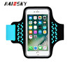 HAISSKY Touch Cover Sport Running Armband Case For iPhone 6 6s 7 For Samsung Galaxy S6 S7 Edge For Xiaomi mi5 mi6
