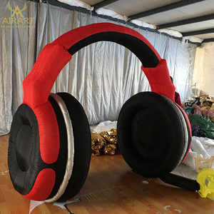 Giant inflatable headphones for advertising promotional