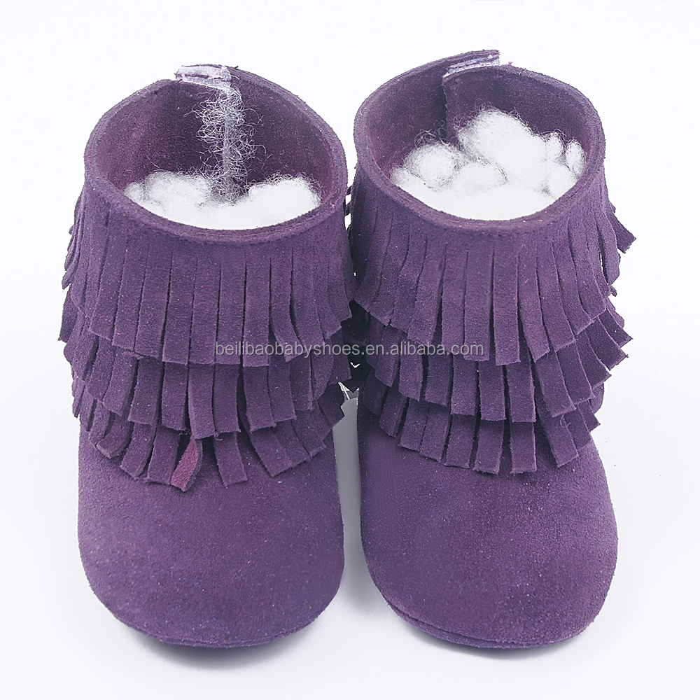HOT Genuine leather soft sole baby dress boots moccasins pictures