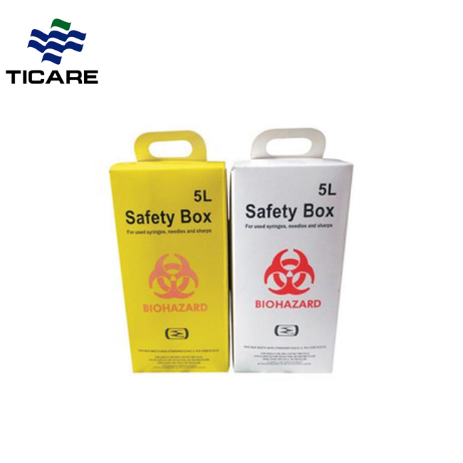 Medical Biohazard Safety Cardboard Box Sharp Container