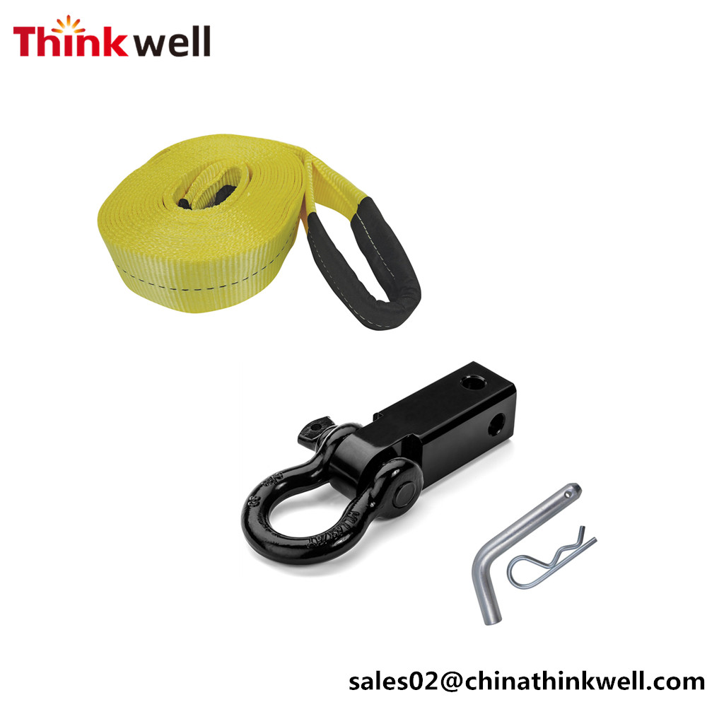 10T Off Road Recovery Winch Pulley Snatch Block with Shackle