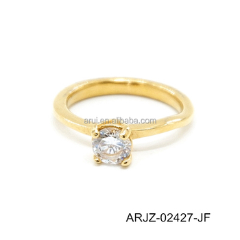 Best Seller Simple Gold Ring Designs Wedding Ring Gold For Wife