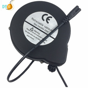 2 pin power cord flat electric power extension cord with reel