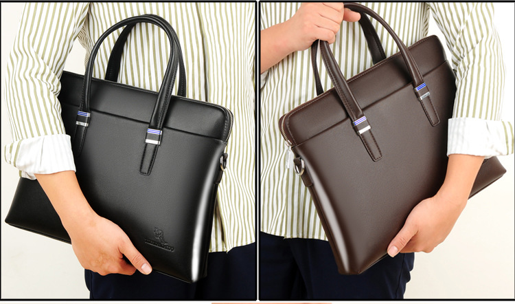Fashion Business Casual Waterproof PU leather Handbag Crossbody Shoulder bag Men Laptop Briefcase