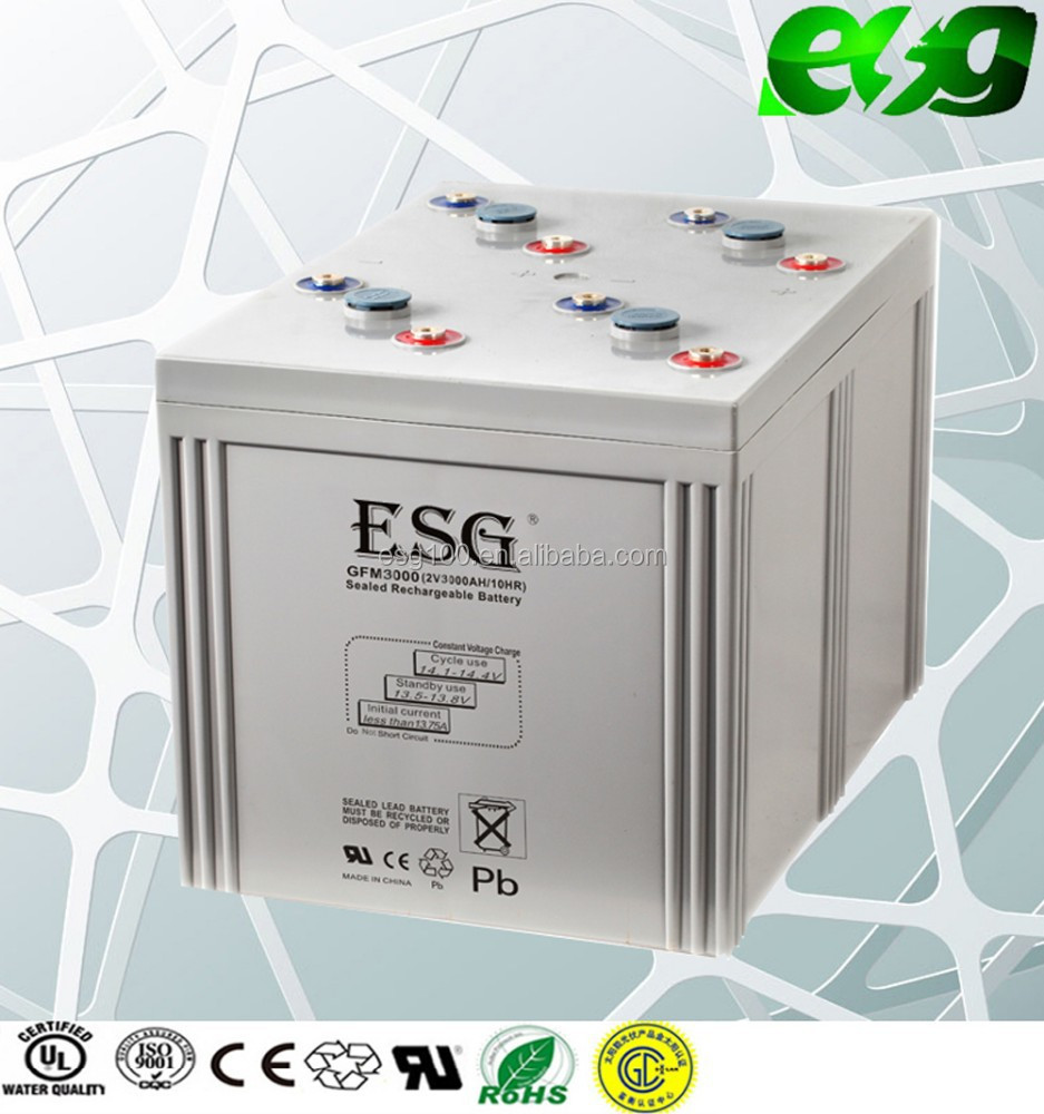 Solar energy Deep cycle battery 2v 3000ah High power VRLA Solar Storage Batteries for power station
