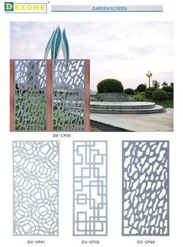 Outdoor Decorative Laser Cut Metal Screens For Garden Panels