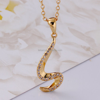 Wholesale fashion ladies gold plated big s letter pendant necklace wholesale fashion ladies gold plated big s letter pendant necklace mozeypictures Images