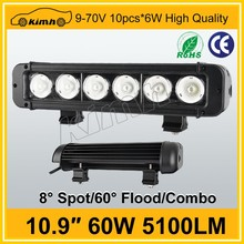 CE/ROHS/IP67 Certification and 10-30V,DC Voltage 10.9'' 60W automotive led