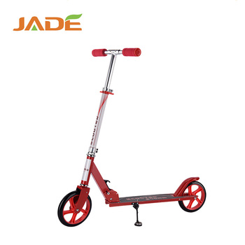 2018 High quality folding 200mm two big wheel adult travel kick scooter for sale