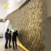 Stainless steel wall decoration 3d board textured decorative 3d wall panels interior 3d decorative wall panel