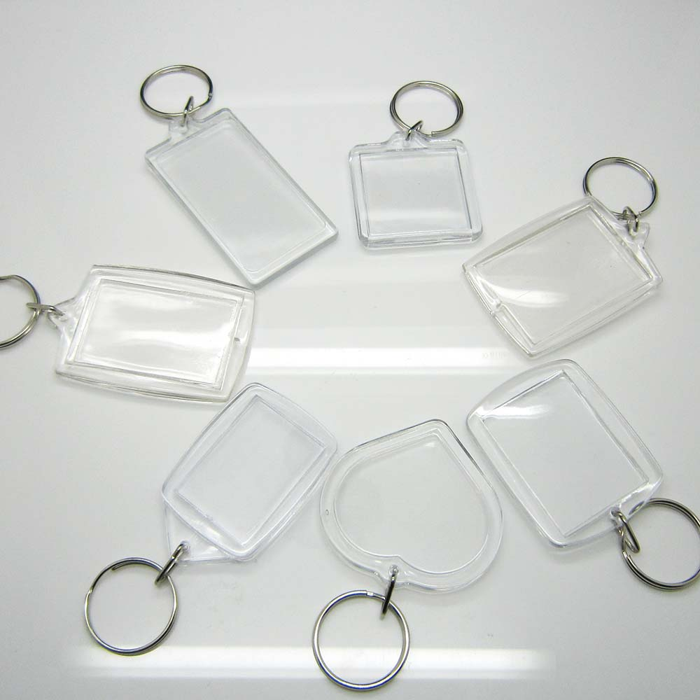 Make your own universal clear blank transparent custom printed photo frame acrylic keychain
