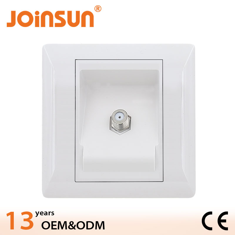 Sateliite wall soket,86*86mm plastic sokcet,electronic socket