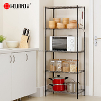 SGS Durable 5 Tiers Kitchen Pantry Shelving Storage Shelf And Spice Rack Holder