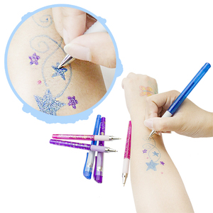Christmas Gift Stationery Sparkle Multicolor Glitter Tattoo Gel Ink Pen