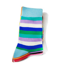 Custom cotton wholesale happy colorful mens socks