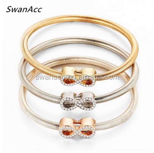 3 PCS/Set Crystal Infinity Bracelet & Bangle For Women Elastic Heart Friendship Charm pulseira masculina Jewelry