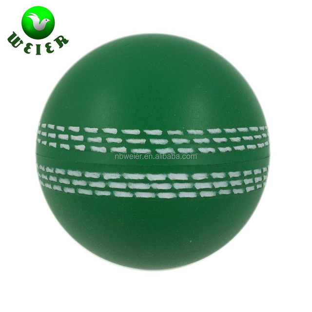 70mm China factory PU foam stress toy cricket balls