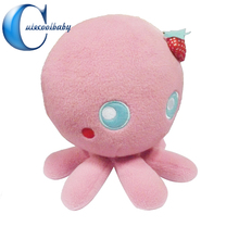 100% Full Test Free Sample Different Size Pp Cotton Emoji Pillow Octopus Plush Toy Supplier In China