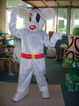 New Danger Mouse Mascot Costume Party Supply