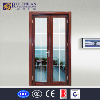 Rogenilan Decorative Front Double Aluminum Door Exterior Main Gate