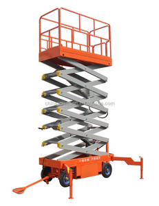 8m easy operate scissor lift hydraulic scissor lifts from Jinan