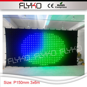 free shipping P15 Pixel new version hand-made product good price led stage curtain display video 3m x 6m
