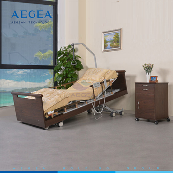 AG-W001 china supplier product medical equipments nursing bed electric motor elderly care ultra-low wooden hospital sand bed