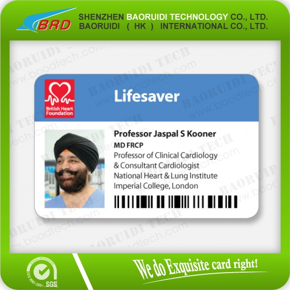 Customized printing pvc id cards/ plastic sample employee id cards.