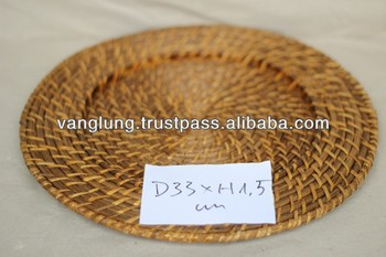 Bamboo Rattan Charger Plates D33cm & Bamboo Rattan Charger Plates D33cm - Buy Charger PlatesRattan ...