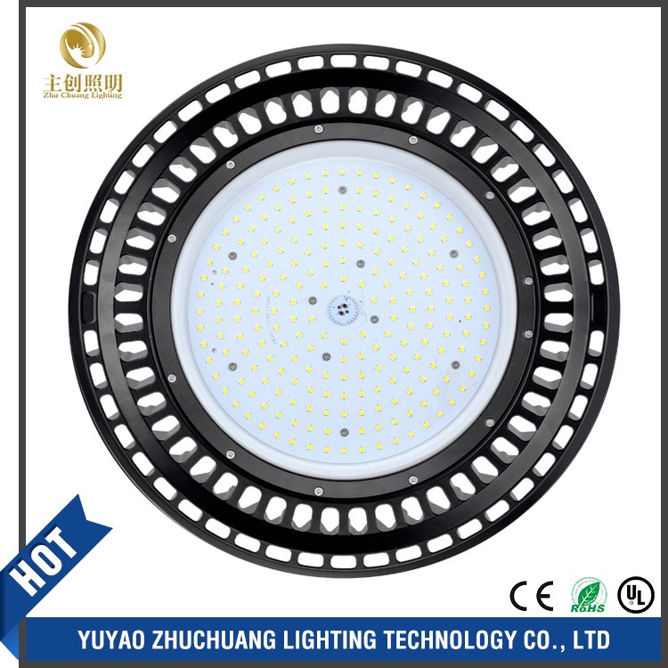 indoor warehouse Industrial IP65 Housing 100w 150w 200w 250W UFO LED High Bay Light approved CE TUV