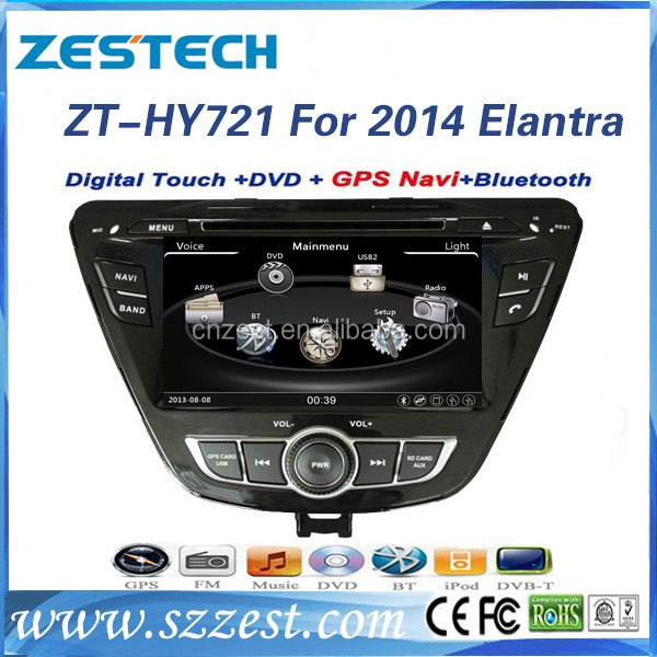 China factory autoradio gps 2 din car dvd for Hyundai Elantra 2014 touch screen car dvd navigation