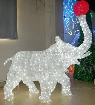 christmas lighted elephant for outdoor decoration - Christmas Elephant Outdoor Decoration