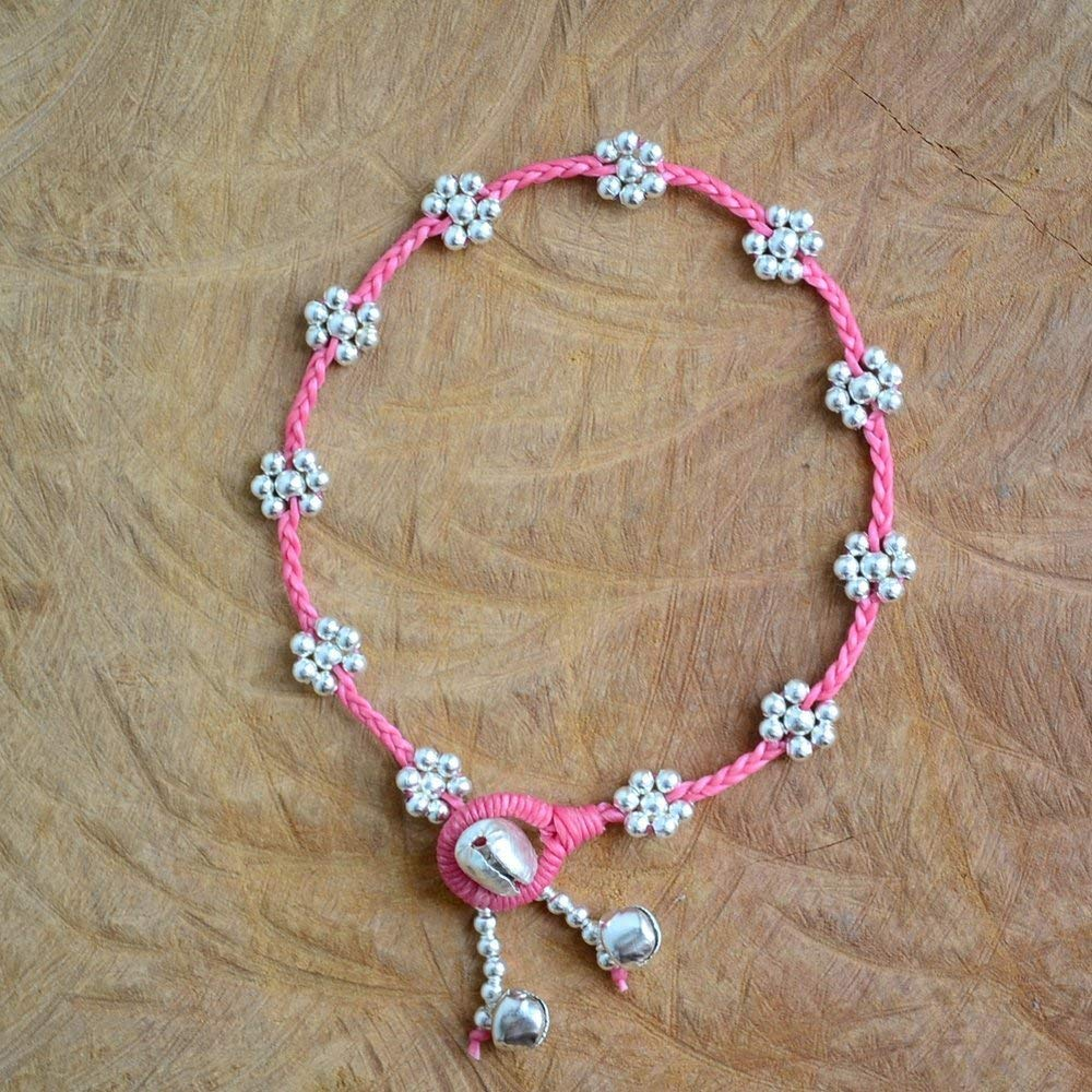 Get Quotations Ideabracelets Hot Sale Handmade Pink Beautiful Daisy Boho Anklet Bracelet For Girls