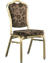China wholesale cheap price aluminum steel 5 stackable hotel banquet hall chairs