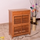 Wholesale living room furniture Rotating bamboo shoe rack/bamboo shoe cabinet