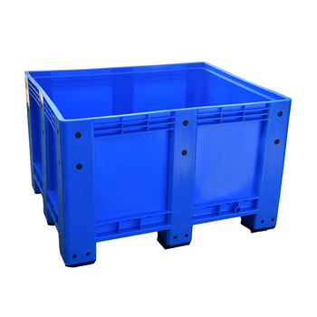 1200*1000 Euro Solid Stackable Large Plastic Bin Pallet With Lid And Wheels