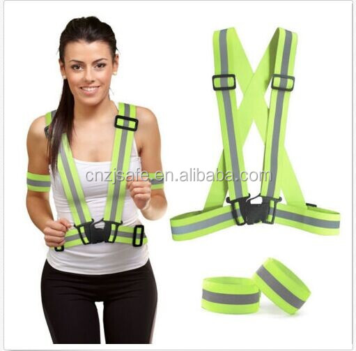 Reflective Safety Vest Bands Harness High Visibility Running Walking or Cycling