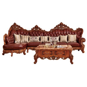 European style series antique wooden sofa