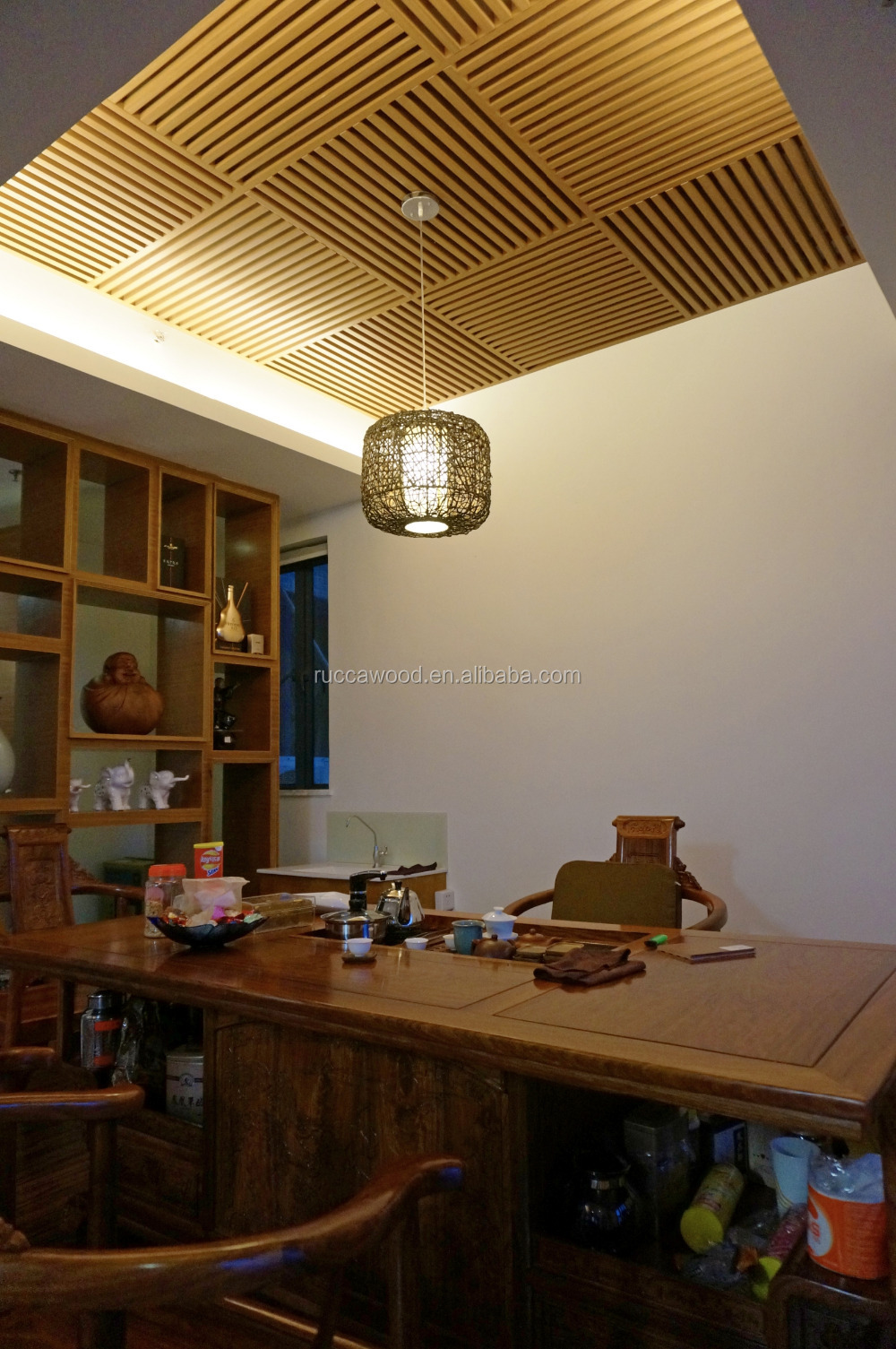 Foshan Rucca WPC Holz Kunststoff Composite Decke Design für die ...