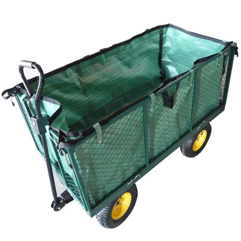 4 Wheels Steel Garden Tools Flower Trolley Cart