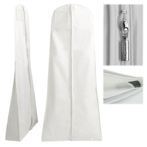 New recycle new product travel dustproof non woven ladies white wedding dress garment bag