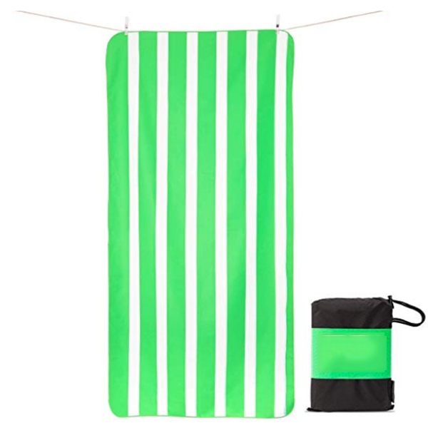 Amazon hot selling OEM and ODM wholesale Printed microfiber suede beach <strong>towel</strong> with carry bag