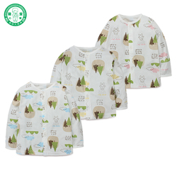 Importing from China factory bamboo fiber long sleeve baby T shirt