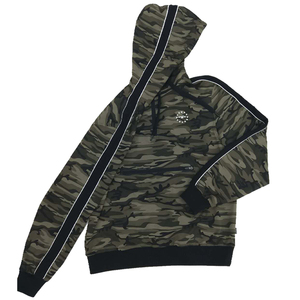 mens hunting camo pullover woodland plain olive green front pocket hoodie personalized 1/4 zip two color striped sweatshirts